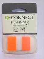 Q-Connect Haftstreifen, 25 x 43 mm, Index, 50 Blatt im Spender, orange